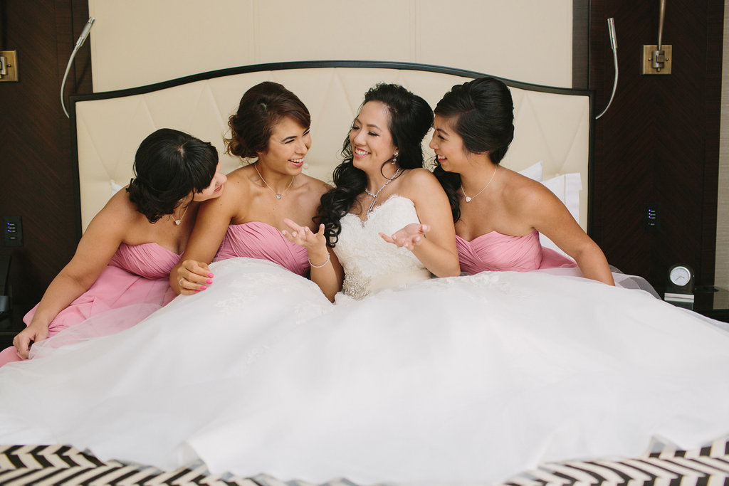 Bride and Bridesmaids Hotel Georgia
