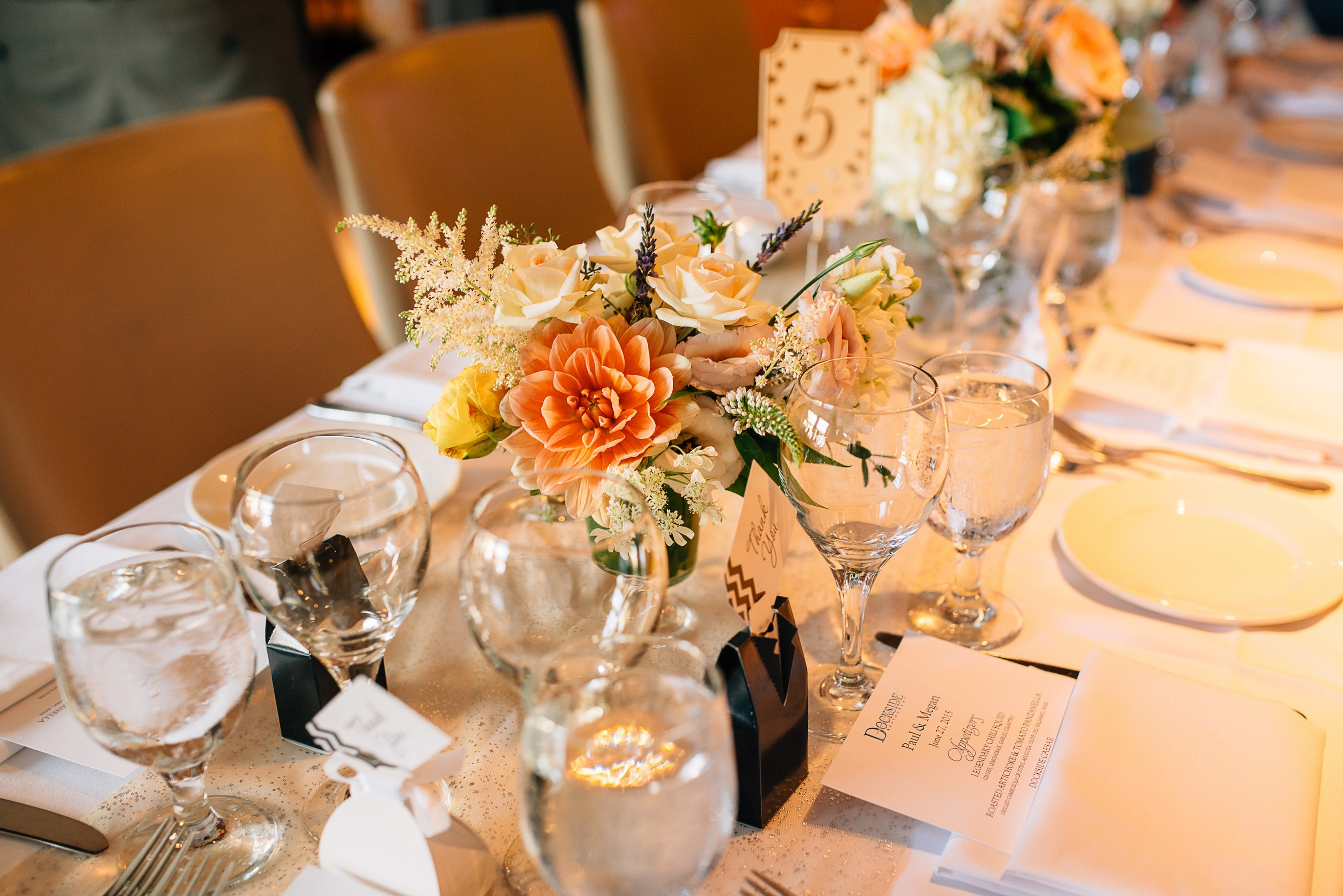 Dockside Restaurant Wedding Table